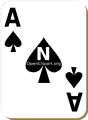 Free Stock Photo: Illustration of an Ace of Spades playing card