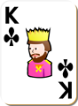 Free Stock Photo: Illustration of a King of Clubs playing card