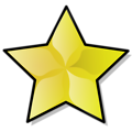 Free Stock Photo: Illustration of a yellow star