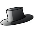 Free Stock Photo: Illustration of a black cartoon hat