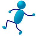 Free Stock Photo: Illustration of a dancing cartoon blue man