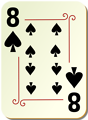 Free Stock Photo: Illustration of an Eight of Spades playing card
