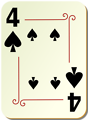 Free Stock Photo: Illustration of a Four of Spades playing card