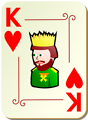 Free Stock Photo: Illustration of a King of Hearts playing card