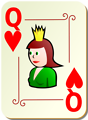 Free Stock Photo: Illustration of a Queen of Hearts playing card