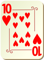Free Stock Photo: Illustration of a Ten of Hearts playing card