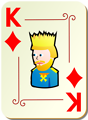 Free Stock Photo: Illustration of a King of Diamonds playing card