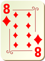 Free Stock Photo: Illustration of an Eight of Diamonds playing card
