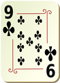 Free Stock Photo: Illustration of a Nine of Clubs playing card