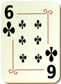 Free Stock Photo: Illustration of a Six of Clubs playing card