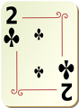 Free Stock Photo: Illustration of a Two of Clubs playing card