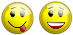 Free Stock Photo: Illustration of yellow smiley faces