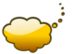 Free Stock Photo: Illustration of a yellow cartoon speech bubble