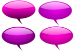Free Stock Photo: Collection of glossy speech bubbles