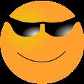 Free Stock Photo: Illustration of an orange smiley face