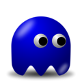 Free Stock Photo: Illustration of an arcade styled blue ghost