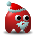 Free Stock Photo: Illustration of an arcade styled santa claus ghost