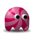 Free Stock Photo: Illustration of an arcade styled pink swirl ghost