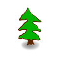 Free Stock Photo: Illustration of a small cartoon tree