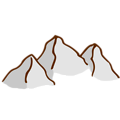 Free Stock Photo: Illustration of a small cartoon mountain