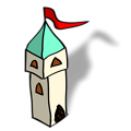 Free Stock Photo: Illustration of a small cartoon castle tower