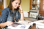 Free Stock Photo: A female student reading a book