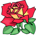 Free Stock Photo: Illustration of a red rose
