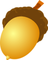 Free Stock Photo: Illustration of an acorn