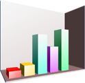 Free Stock Photo: Illustration of a 3D bar chart