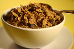 Free Stock Photo: A bowl of cereal with raisins
