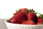 Free Stock Photo: A bowl of strawberries