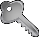 Free Stock Photo: Illustration of a silver key