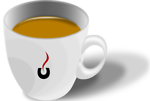 Free Stock Photo: Illustration of a cup of coffee