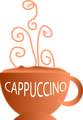 Free Stock Photo: Illustration of a hot cup of cappuccino