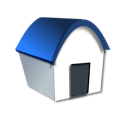 Free Stock Photo: Illustration of a home with a blue roof