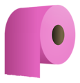 Free Stock Photo: Illustration of a roll of purple toilet paper