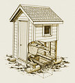 Free Stock Photo: Illustration of an outhouse
