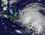 Free Stock Photo: Satellite view of a hurricane