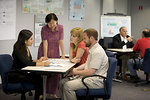 Free Stock Photo: Men and women at a town hall meeting