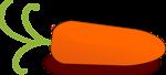 Free Stock Photo: Illustration of an orange carrot