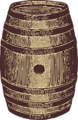 Free Stock Photo: Illustration of a wooden barrel