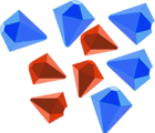 Free Stock Photo: Illustration of red and blue jewels