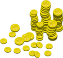 Free Stock Photo: Illustration of stacks of gold coins
