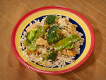 Free Stock Photo: Chicken Broccoli stir fry on a plate