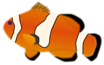Free Stock Photo: Illustration of a orange fish