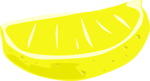 Free Stock Photo: Illustration of a yellow lemon slice