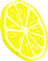 Free Stock Photo: Illustration of a yellow lemon slice