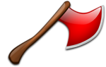 Free Stock Photo: Illustration of a red axe