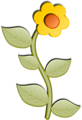 Free Stock Photo: Illustration of a yellow flower