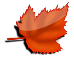 Free Stock Photo: Illustration of a red autumn leaf
